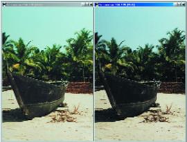 Результат сканирования с включенной опцией Color match (слева) и без оной.